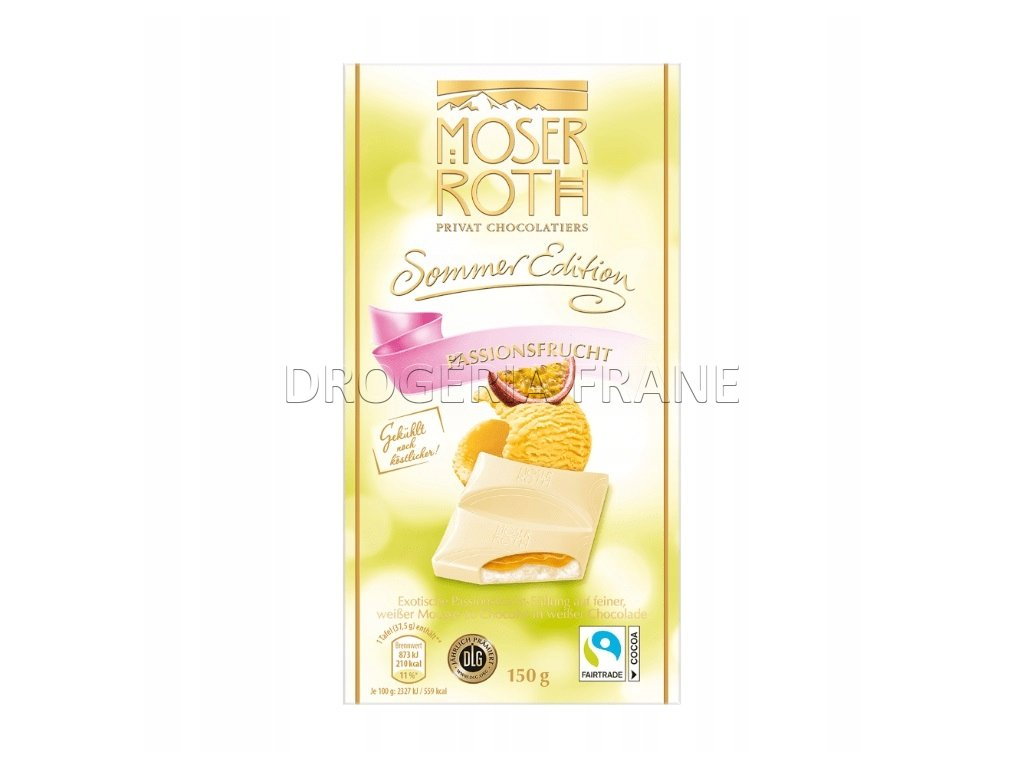 moser roth sommer edition passionsfrucht cokolada 150 g