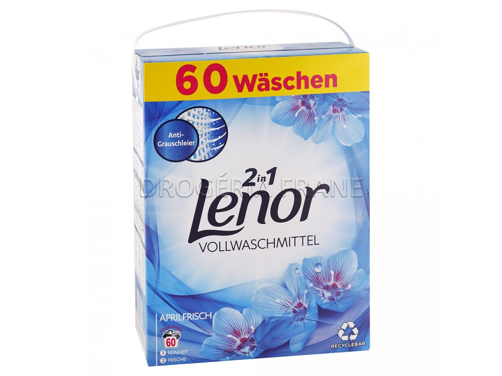lenor aprilfrisch prasok na pranie 3 9 kg 60 prani