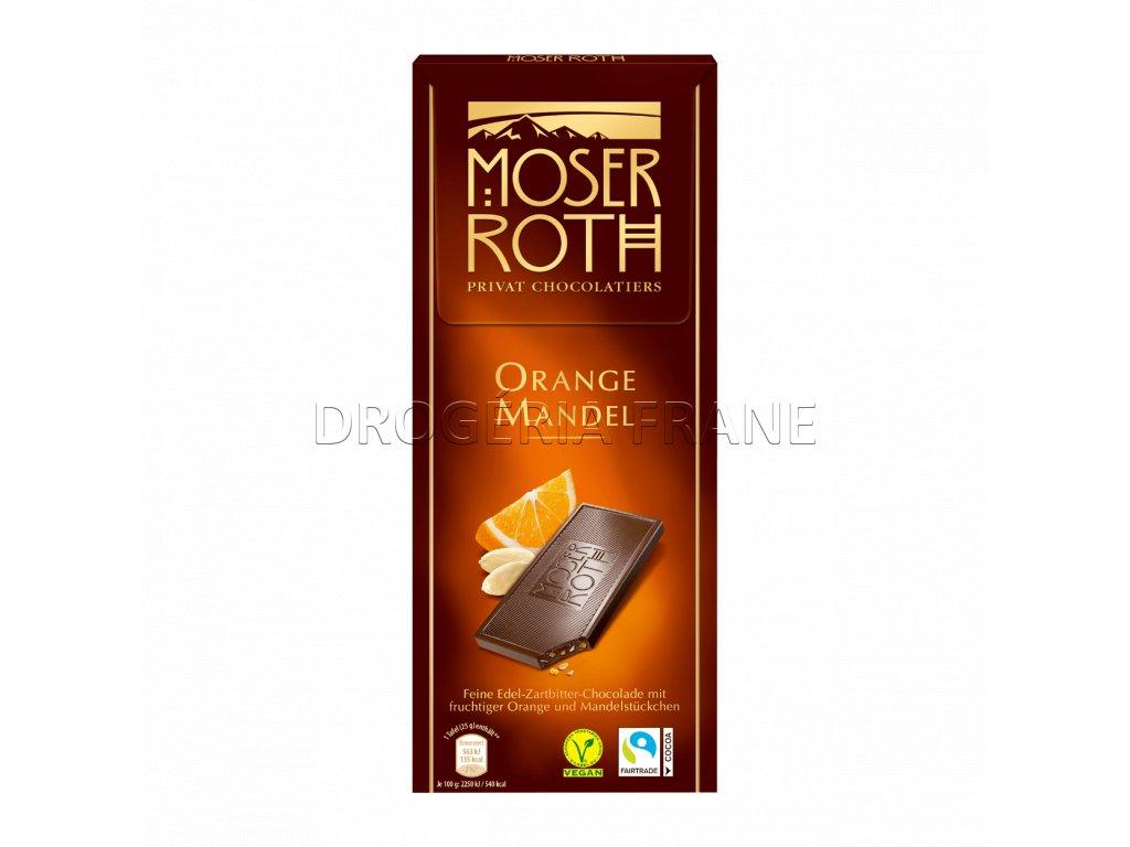 moser roth orange mandel cokolada 125 g