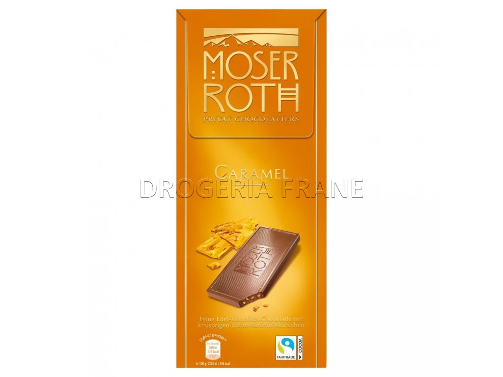 moser roth caramel mliecna cokolada 125 g