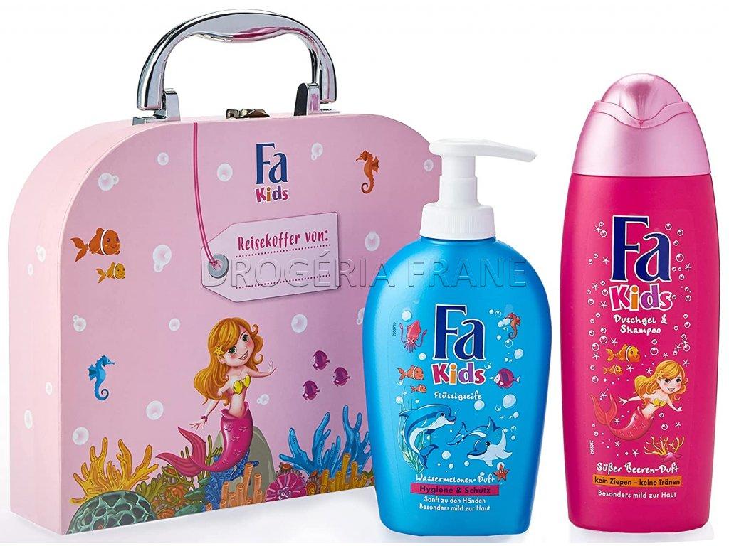 fa kids girl detsky cestovny kufrik fa kids sprchovy gel a sampon fa kids mydlo na ruky
