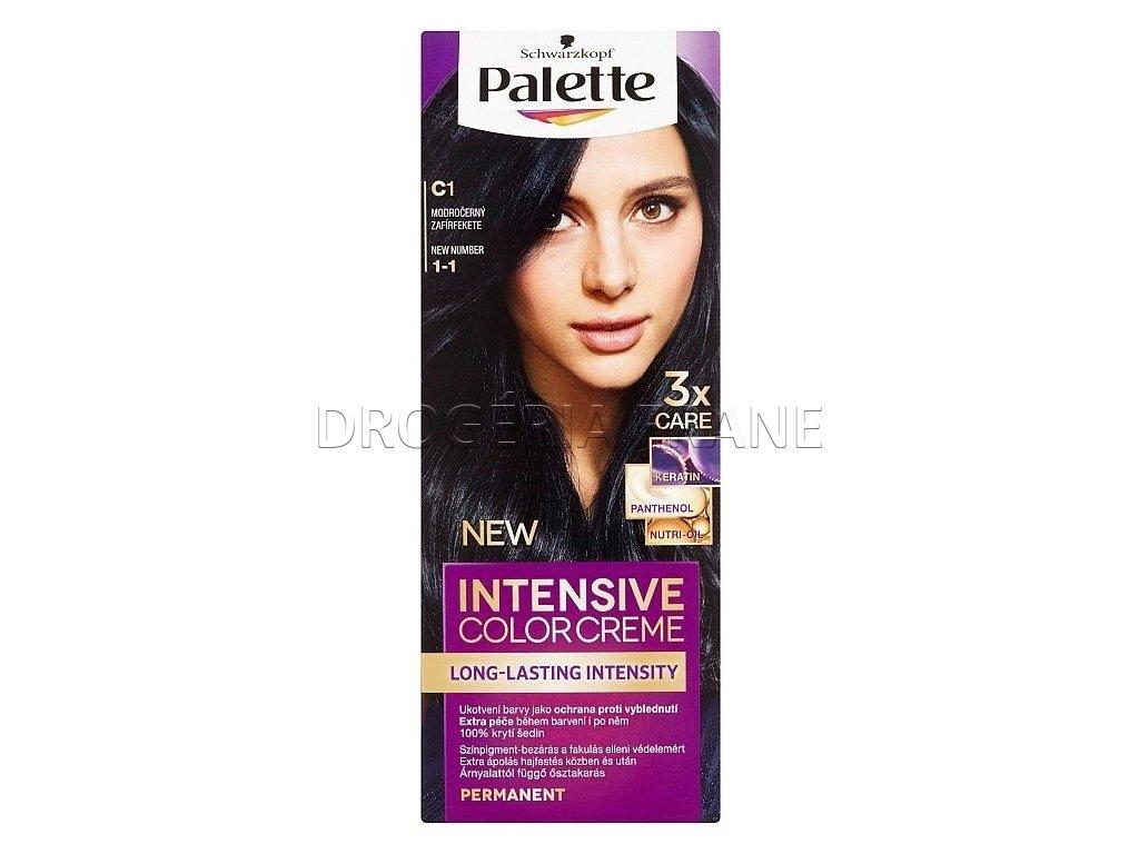 schwarzkopf palette intensive colorcreme c1 1 1 farba na vlasy modro cierna1