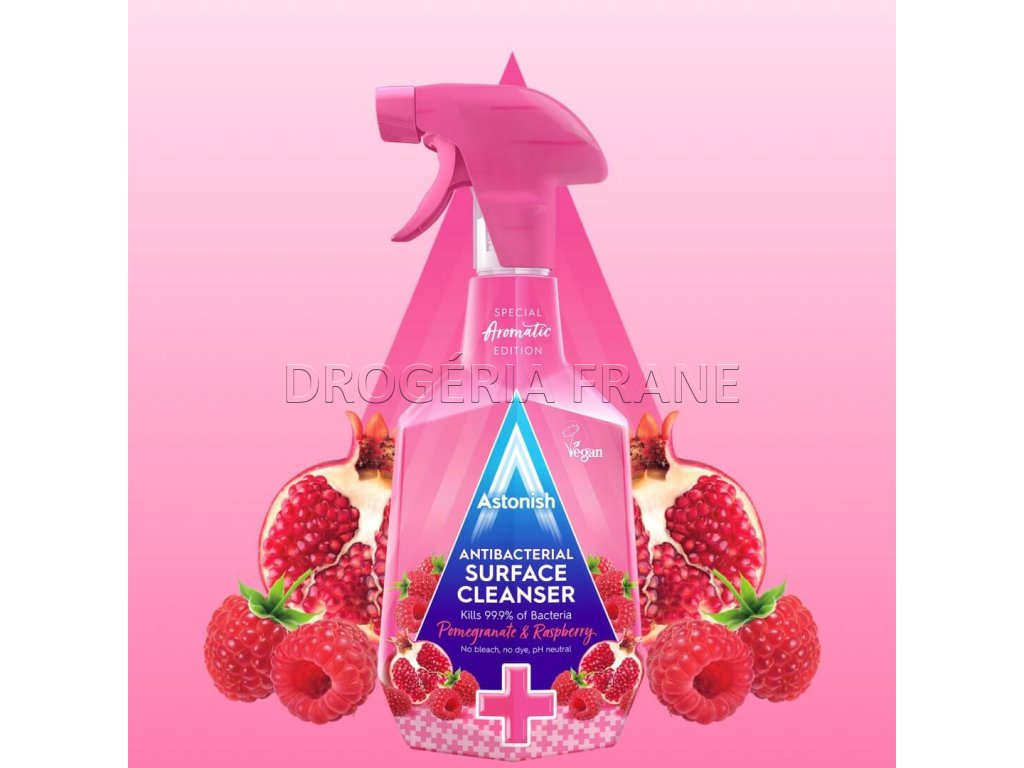 astonish antibacterial cleanser pomegranate raspberry antibakterialny cistiaci prostriedok 750 ml