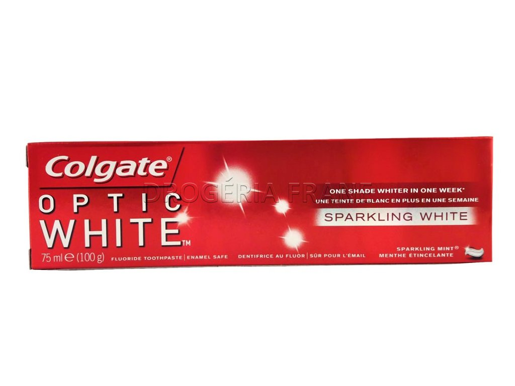 zubna pasta colgate optic white 75 ml