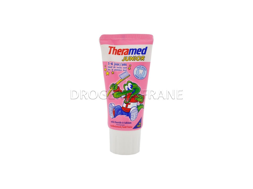 theramed tandpasta kind junior aardbei vanaf 1 tot 6 jaar