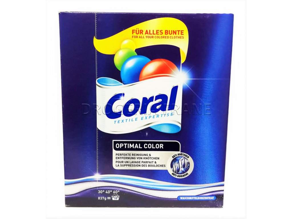 prasok na pranie coral optimal color 837 g 18 prani