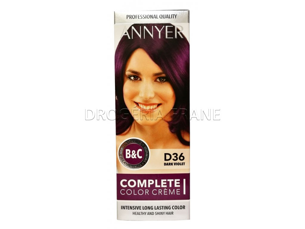 annyer profesionalna farba na vlasy d36 tmavo fialova