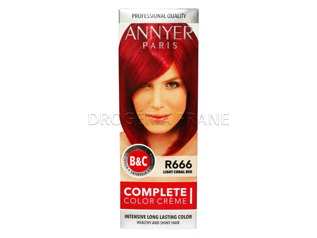 annyer profesionalna farba na vlasy r666 svetlo koralovo cervena