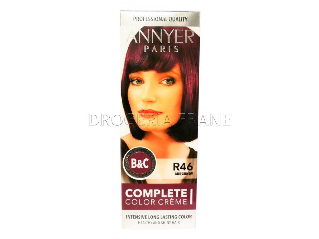 annyer profesionalna farba na vlasy r46 burgundy
