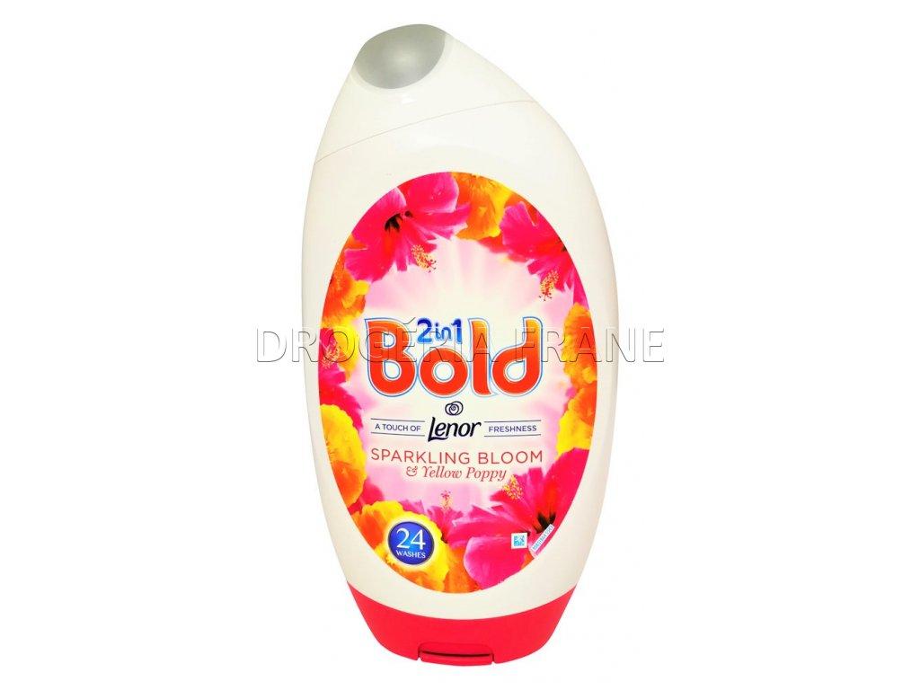 gel na pranie bold 2 en 1 ruzovy kvet a zlty mak 888 ml 24 prani