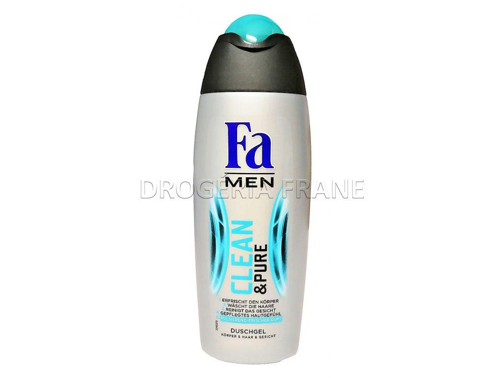 sprchovy gel fa men clean pure 250 ml