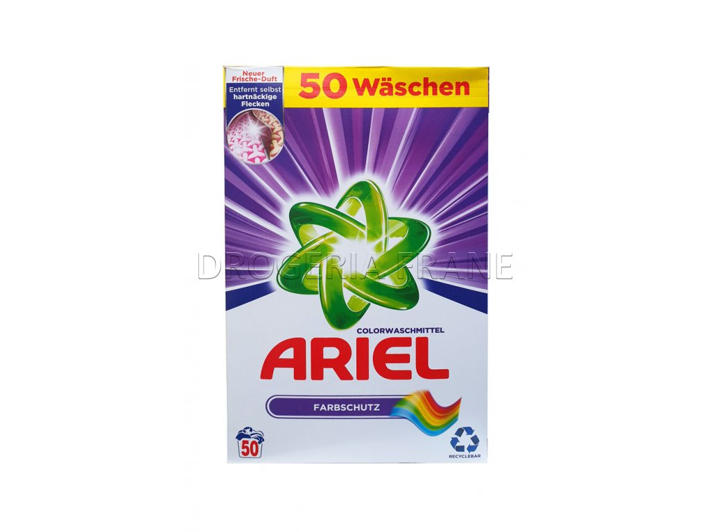 prasok na pranie ariel color 3 25 kg 50. prani