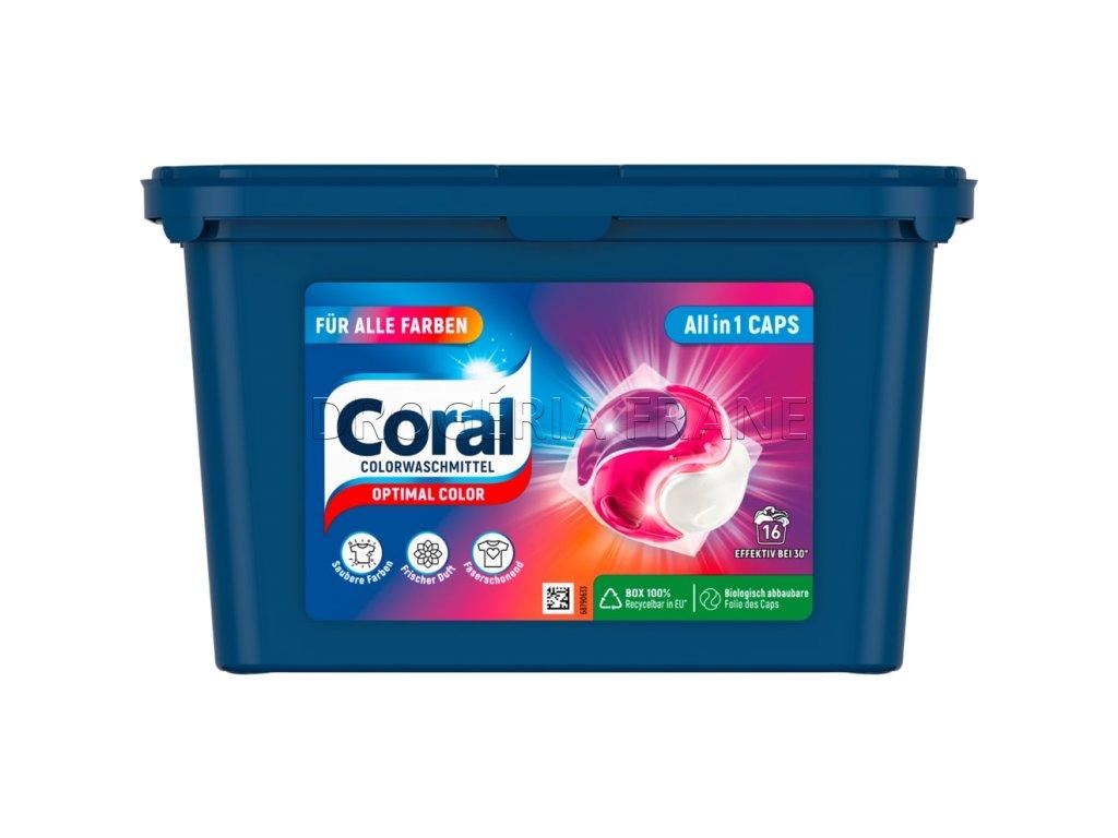 kapsule na pranie coral 3 v 1 optimal color caps 18 ks