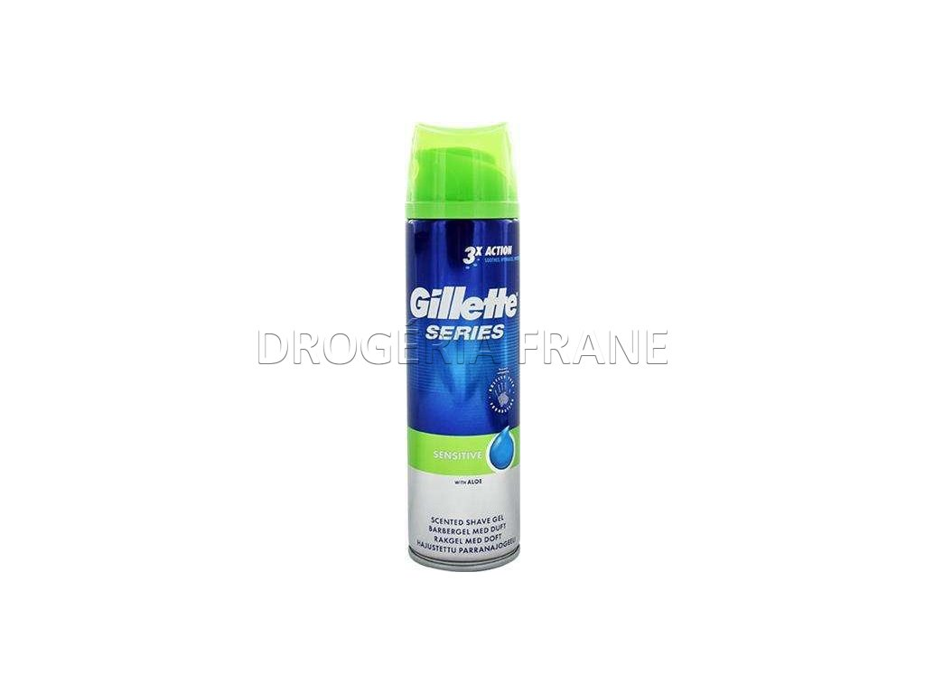 gel na holenie pansky gillette series protection 3 x action sensitive 200 ml