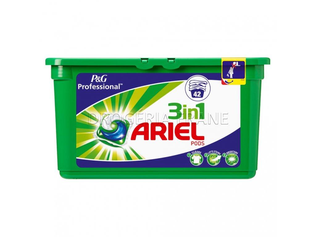 kapsule na pranie ariel 3 in 1 na biele a stalofarebne pradlo 42 ks .