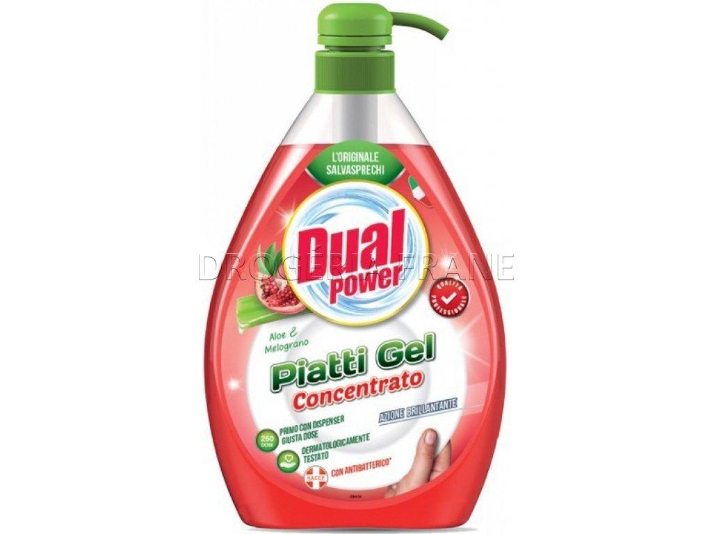 cistiaci prostriedok na rucne umyvanie riadu dual power aloe melograno s pumpickou 1 l