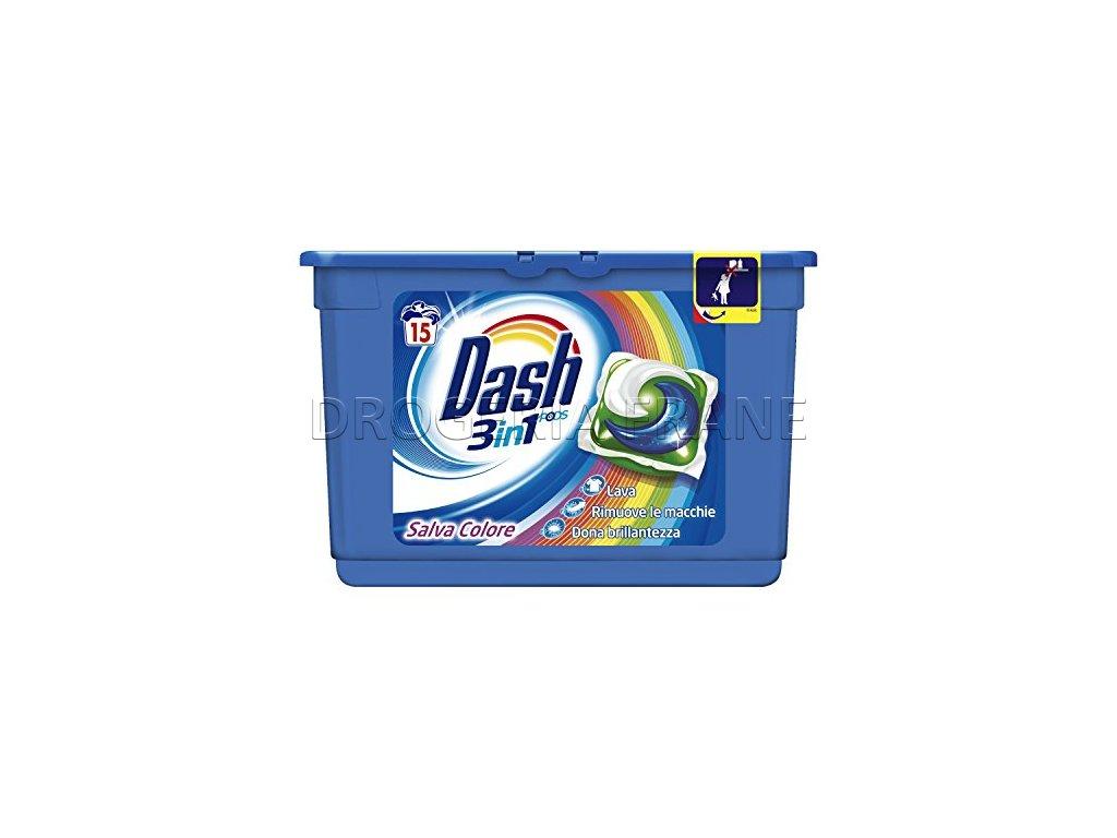 kapsule na pranie dash 3 n 1 salva colore 15 ks