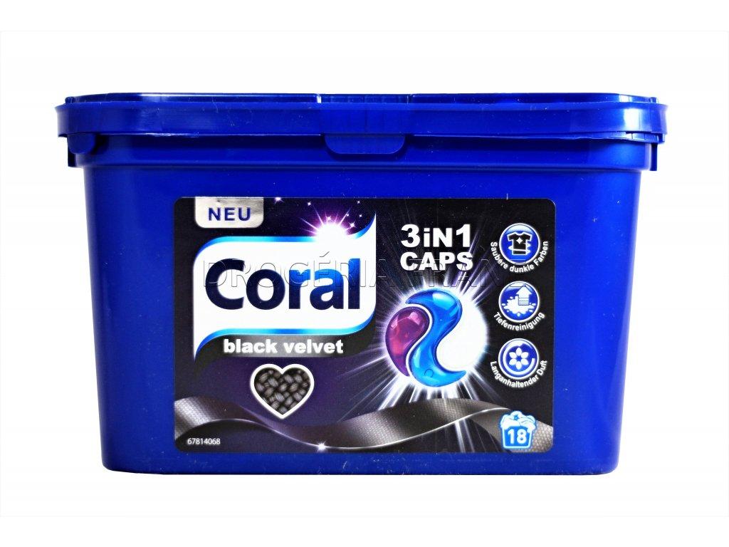 kapsule na pranie coral black velvet 3 in 1 18 prani