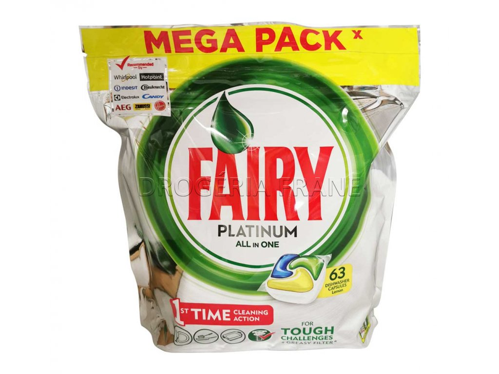 tabletky do umyvacky riadu fairy platinum all in one citrus 63 ks