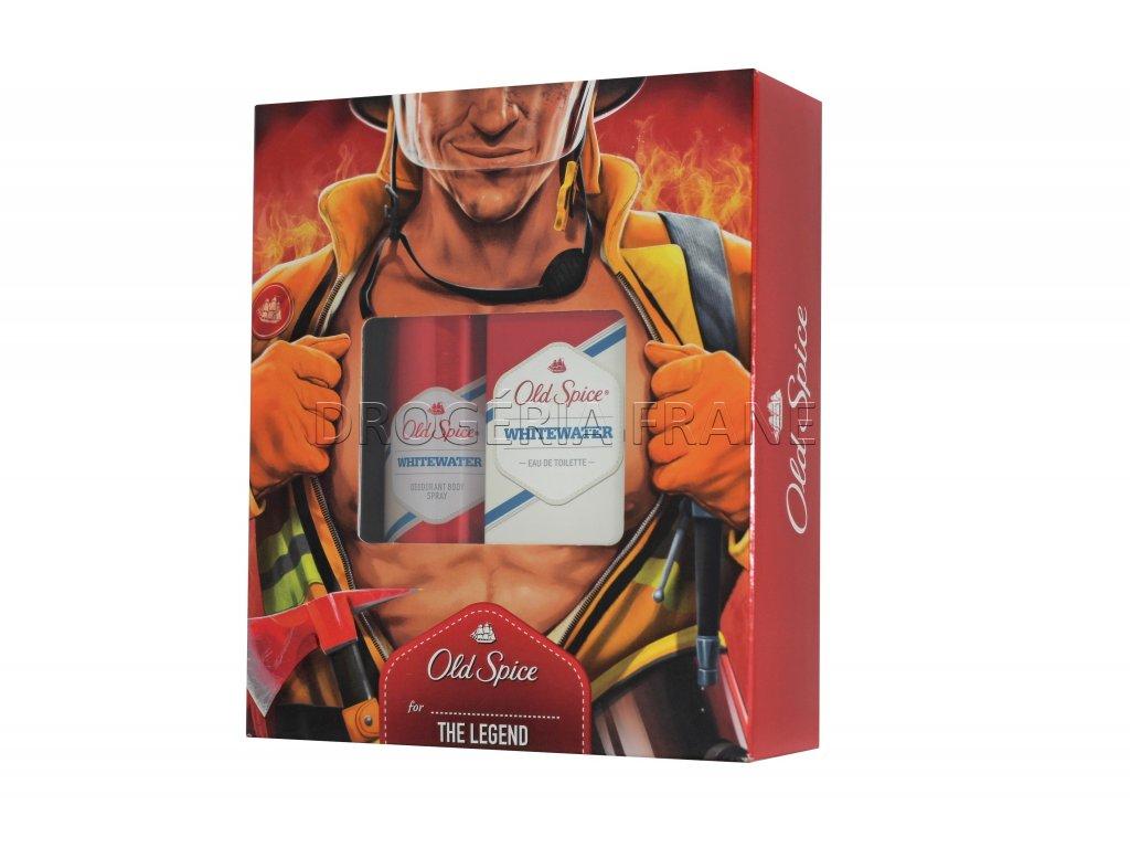 old spice whitewater panska darcekova kazeta deodorant spray 150 ml taletna voda 100 ml