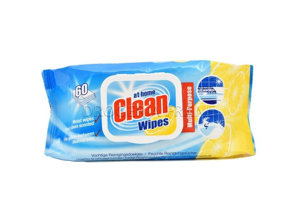 cistiace obrusky at home clean wipes citron 60 ks
