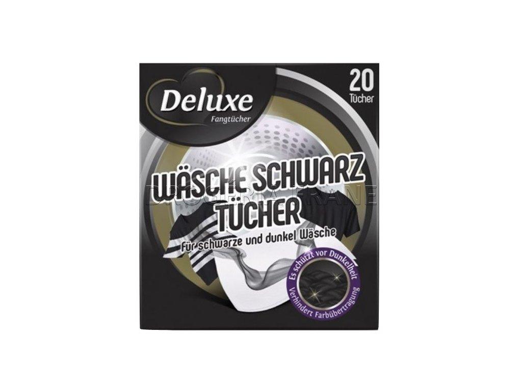 obrusky na zachytavanie farieb do pracky deluxe wasche schwarz na cierne pradlo 20 ks