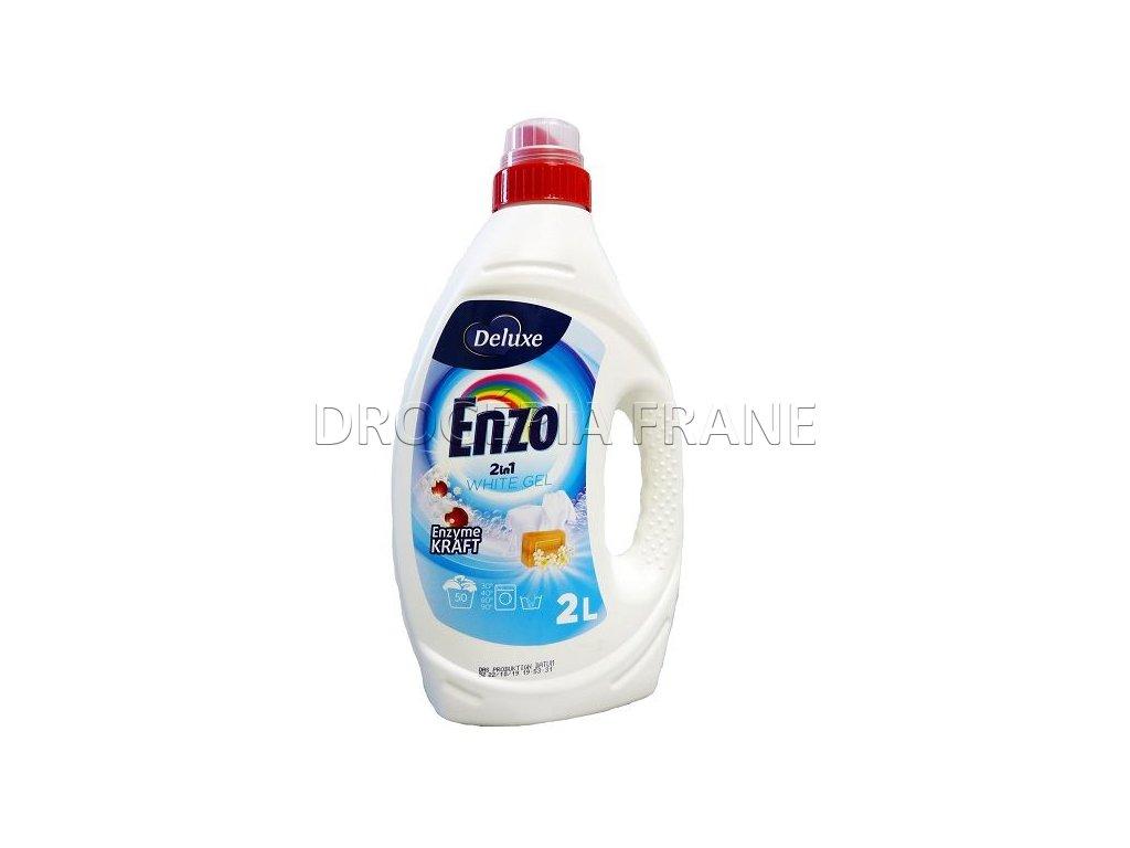 gel na pranie enzo 2 in 1 white gel 2 l 50 prani