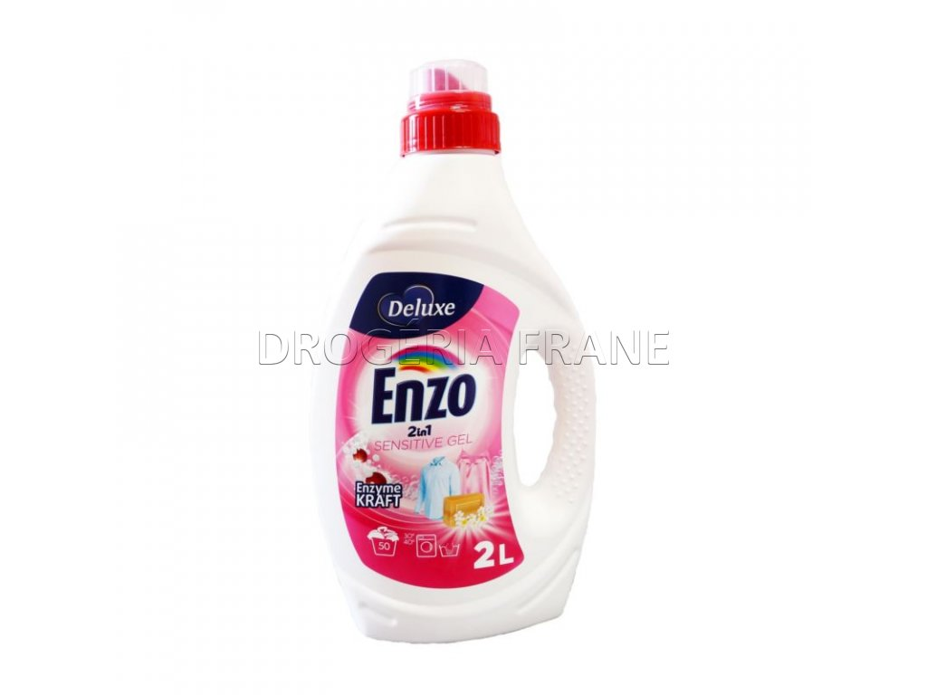 gel na pranie enzo 2 in 1 sensitive gel 2 l 50 prani