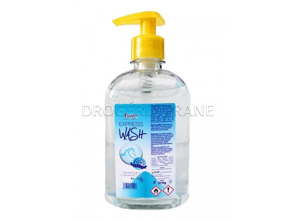 antibakterialny dezinfekcny hydratacny gel na ruky fortea express wash s pumpickou 270 g
