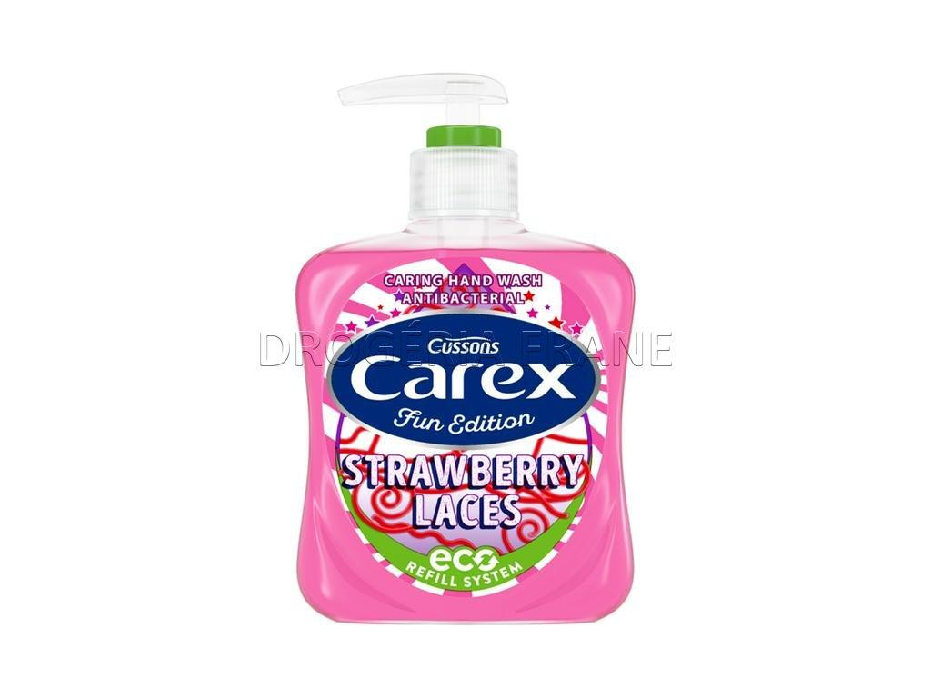 antibakterialne mydlo na ruky pre deti carex strawberry laces 250 ml