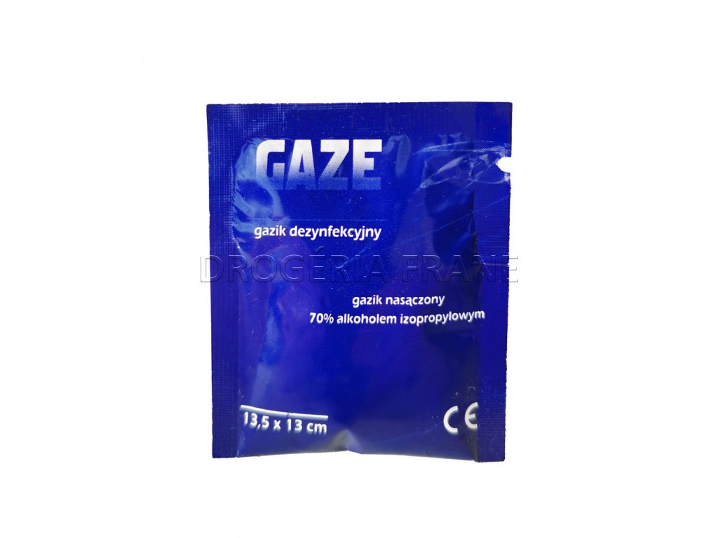 dezinfekcna gaza 70 izopropyl alkohol 13 5 x 13 cm