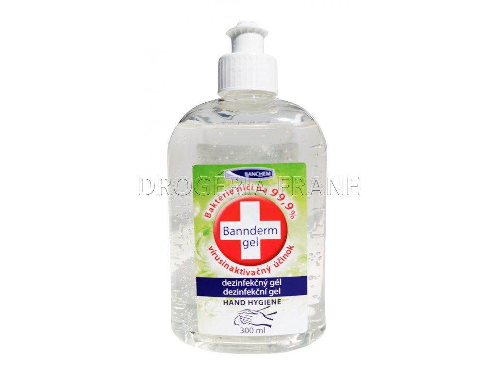 antibakterialny antivirusovy gel na ruky bannderm gel 300 ml