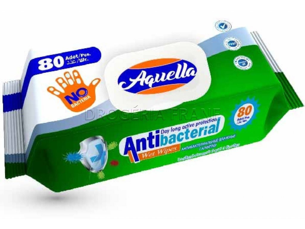 antibakterialne obrusky aquella 80 ks