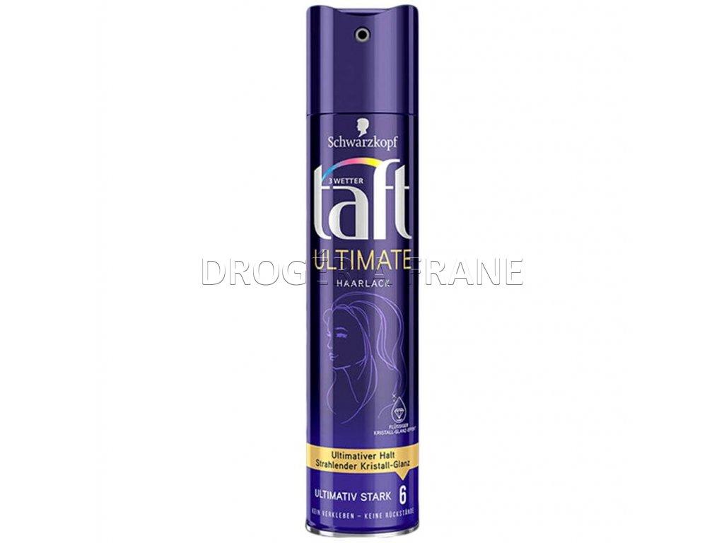 lak na vlasy taft ultimate haarlack flussiger kristal glanz 6 250 ml