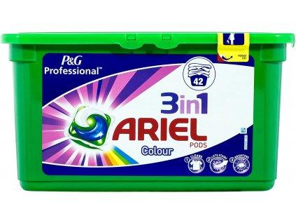 kapsule na pranie ariel 3 in 1 na farebne 42 ks