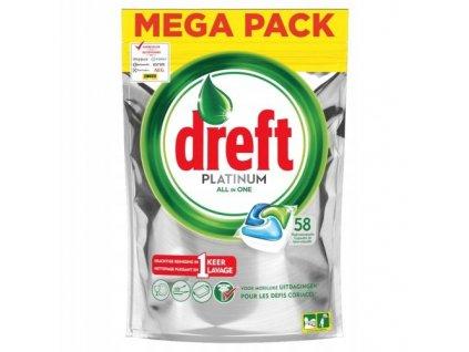 tabletky do umyvacky riadu drerft platinum all in one citrus 58 ks
