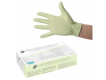 Rukavice Latexové Sensitive jednorázové bez púdru - 100 ks / balenie