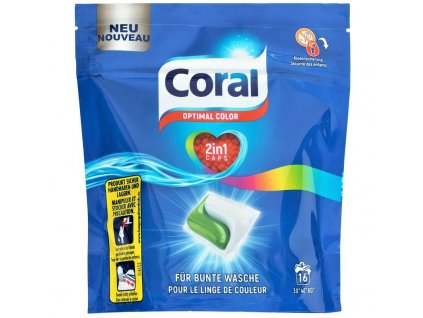 kapsule na pranie coral optimal color caps 16 ks