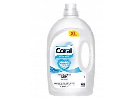 gel na pranie coral optimal white na biele pradlo 2 5 l 50 prani