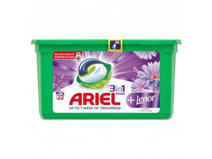 kapsule na pranie ariel 3 in 1 lenor 32 ks