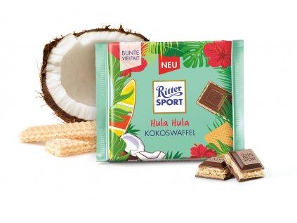 ritter sport hulahula kokos waffel mliecna cokolada 100 g