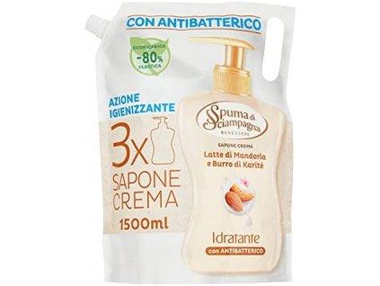 antibakterialne tekute mydlo na ruky spuma di sciampagna mandlove mlieko a bambucke maslo 1500 ml