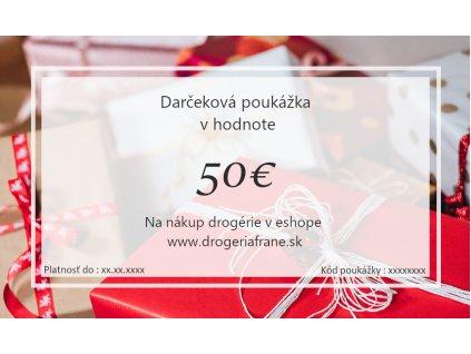 darcekova poukazka 50