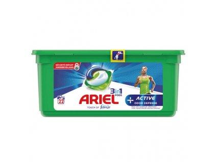 kapsule na pranie ariel febreze 3 in 1 active odor defense 22 ks