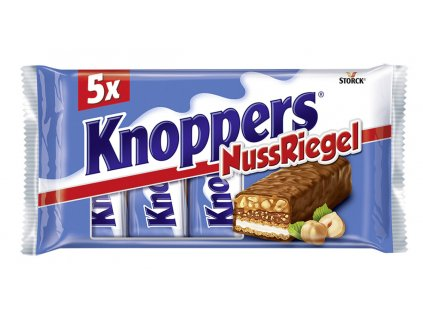 Knoppers Nuss rieel tyčinky s lieskovými oriekškami a karamelom 5 x 40 g