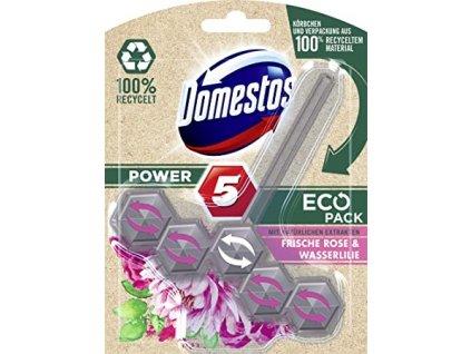 domestos power 5 eco pack frische rose wasserlilie wc blok 55 g