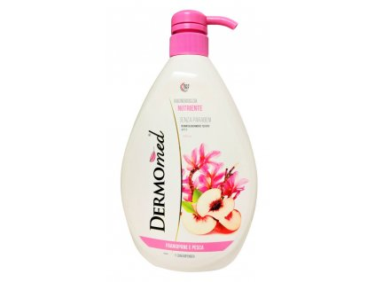 sprchovy gel a pena do kupela dermomed frangipani and pesca 1000 ml