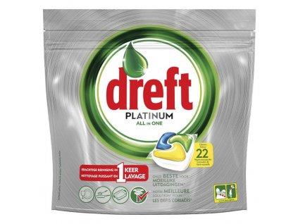 dreft platinum all in one citron tabletky do umyvacky riadu 22 ks