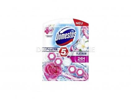 12473 domestos power 5 platinum rose jasmin tuhy wc blok 55 g