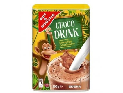 gut gunstig choco drink kakaovy napoj 800 g